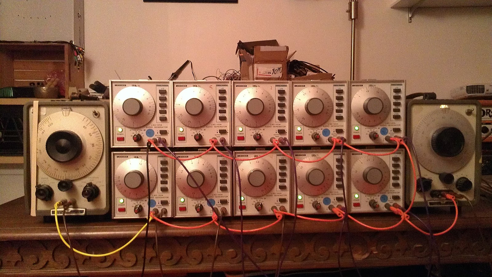 "The oscillators used for Suzanne and Alex's performance of ""I of IV"""