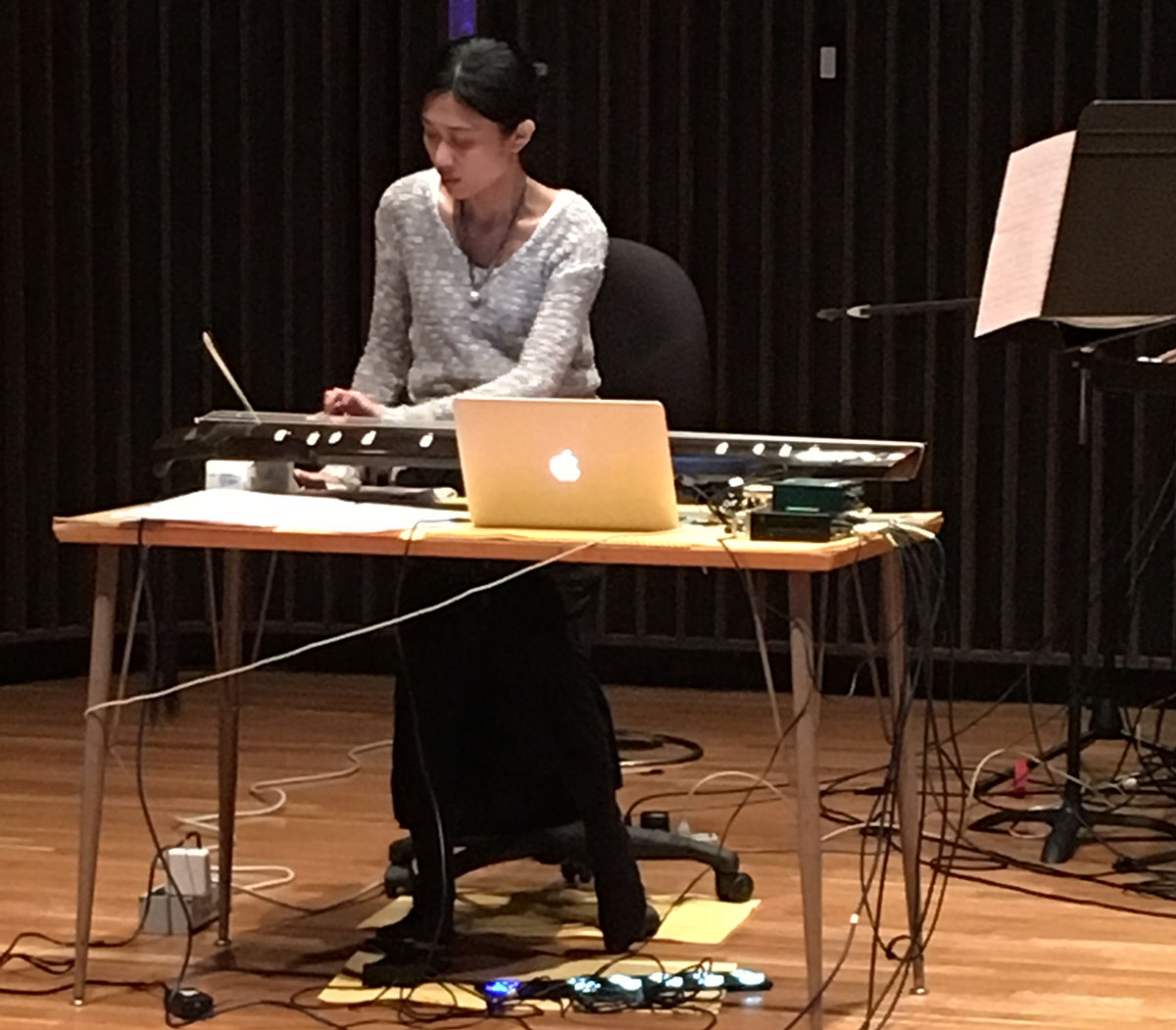 Lily Chen, performing Hypochondriasis (Chin and Live Electronics)