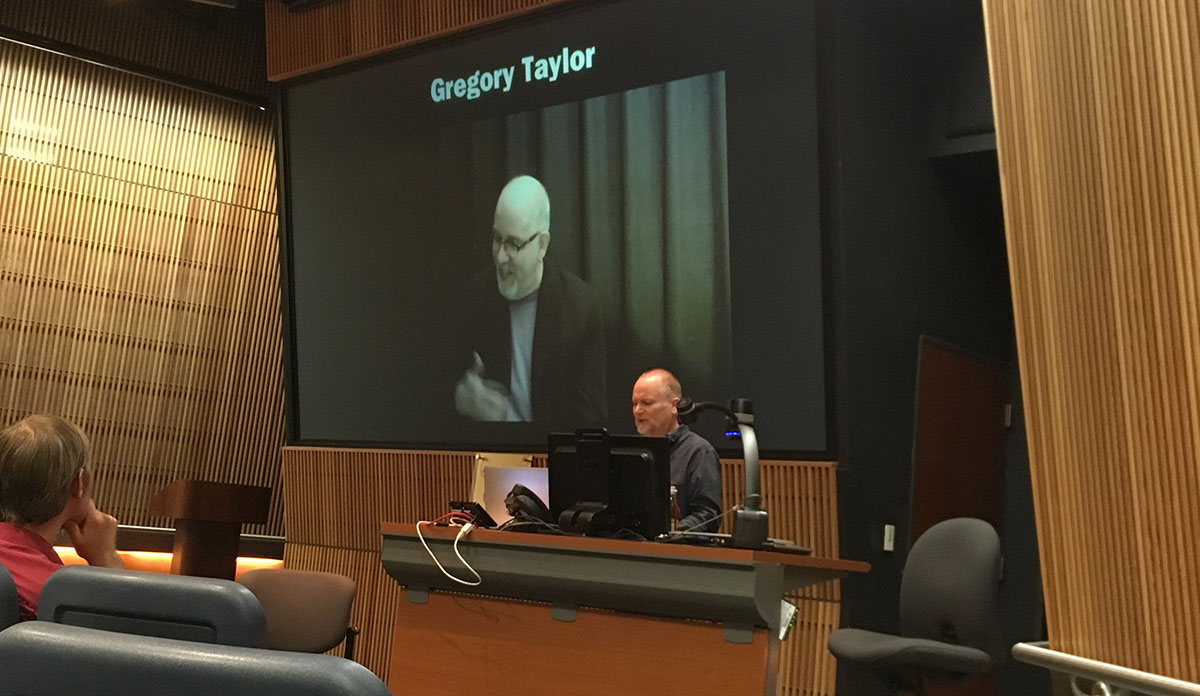 Gregory Taylor making an appearance in Jeff Kaiser's presentation.