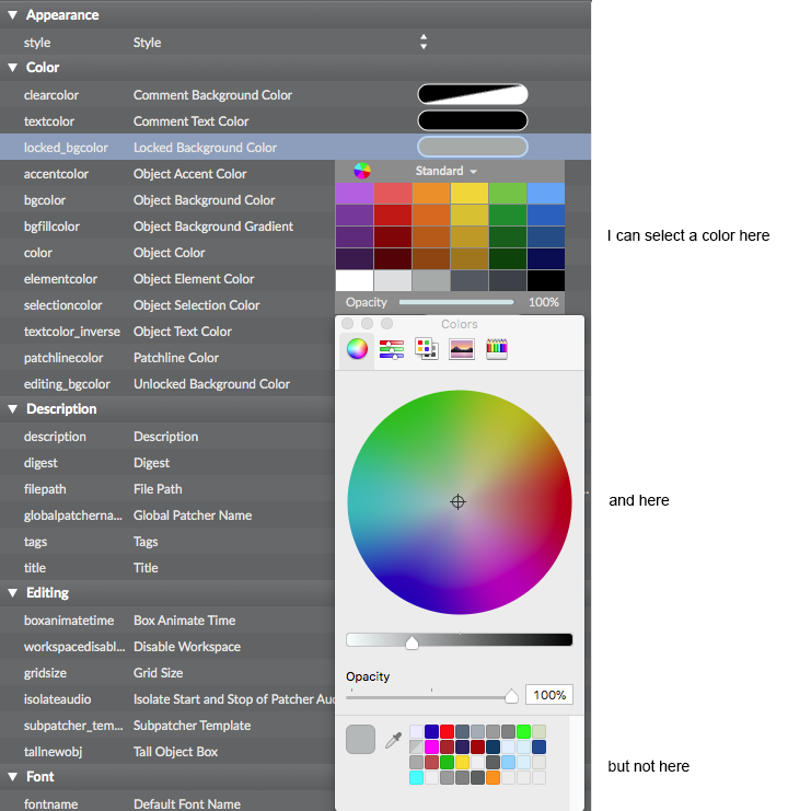 Problem With Custom Color Picker Palette In High Sierra - Maxmsp ... Problem with Custom Color Picker Palette in High Sierra - MaxMSP ... Gray Things gray color picker