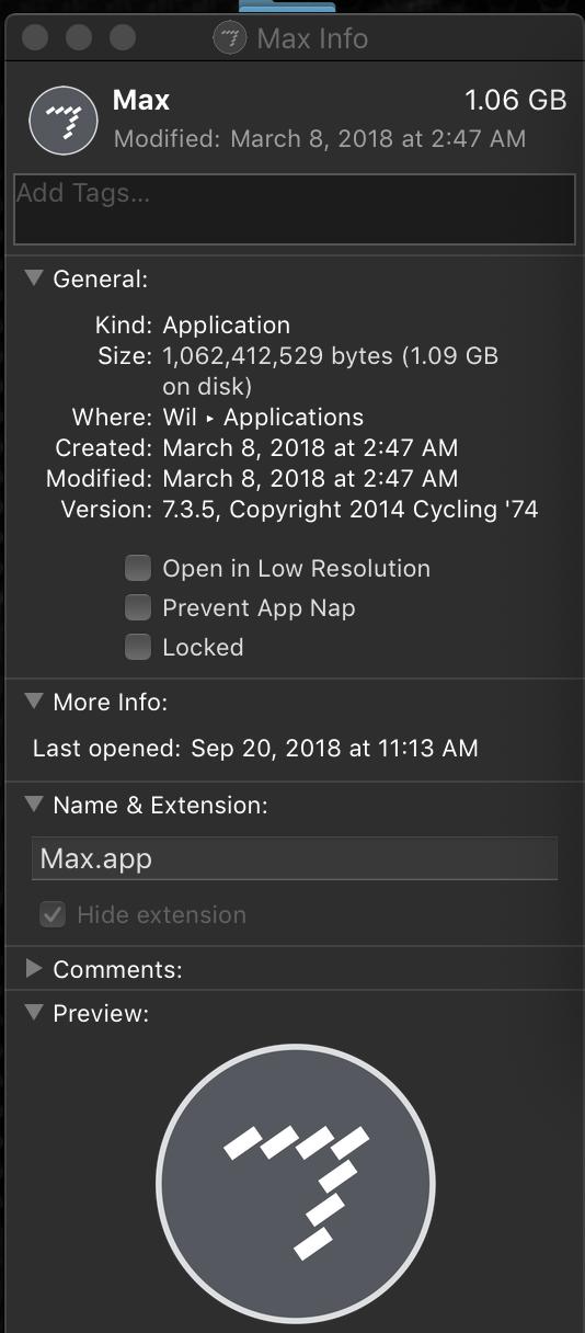 Mac OS Mojave, Max stuck in 32 bit, no 64 bit option - MaxMSP Forum