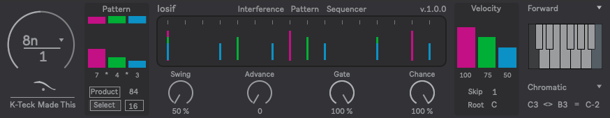 Iosif: Interference Pattern Sequencer