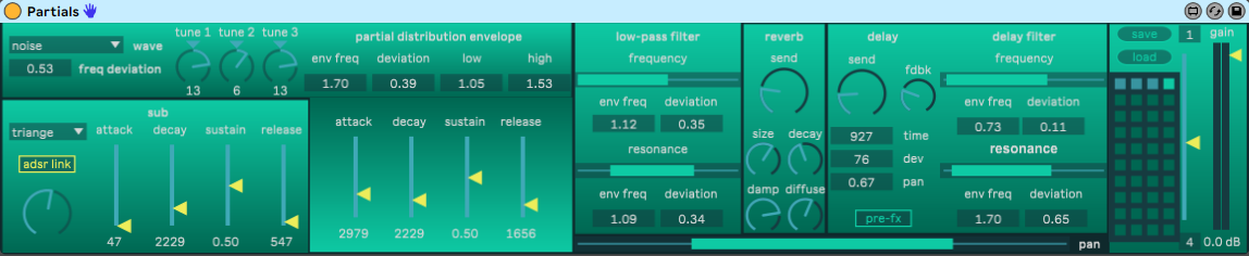 Max for Live Instrument GUI