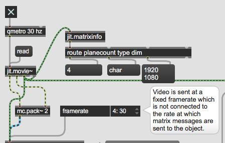 jit.ndi.send~ transmitting 1920x1080 video