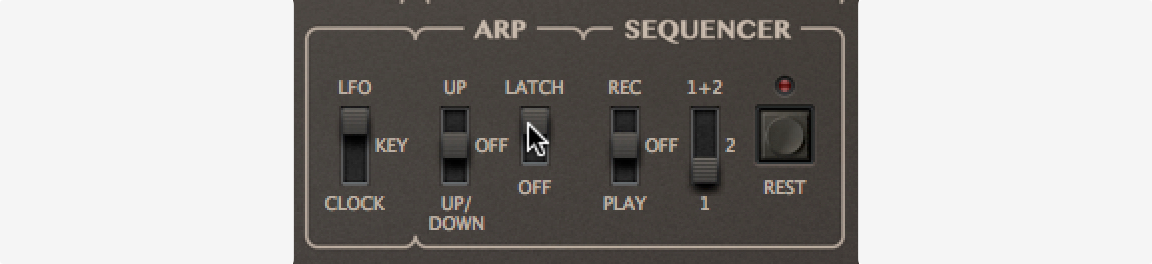 A beautifully simple (and old school) arpeggiator with a new Latch