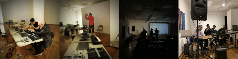 Nightlife #3: Gregory Taylor/Timothy Place, Peter Hulen, Wombat, and the Ball State Electroacoustic Ensemble (Photographs courtesy of MOXsonic.org)