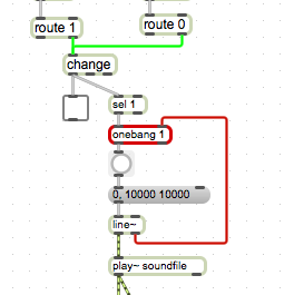 Arduino - MAX/MSP sequencer play sound file to the end even