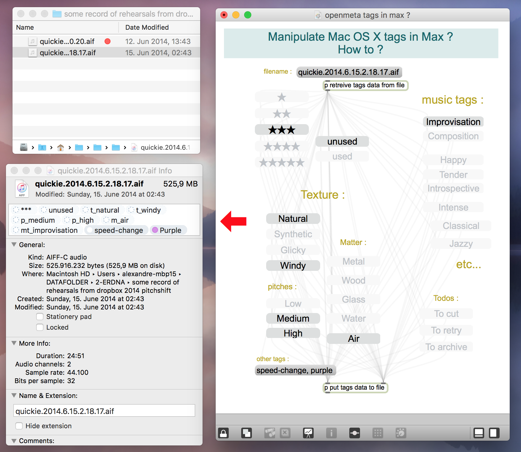 Manipulate OS X Tags from Max ? - Javascript Forum | Cycling '74