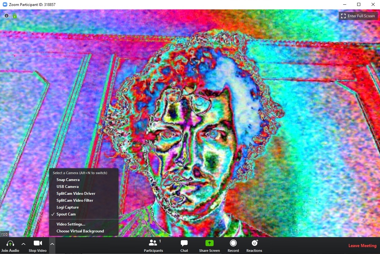 Sending Jitter to Zoom via Spout Cam